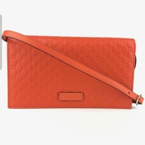 Microguccissima wallet with detachable strap